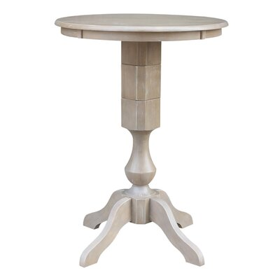 Jane Street Bar Height Round Pub Table Size: 40.9 H x 36 W x 36 D, Color: Weathered Gray