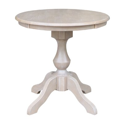 Jane Street Round Dining Table Size: 28.9 H x 30 W x 30 D, Color: Weathered Gray