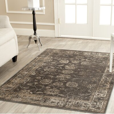 Rindge Soft Anthracite Area Rug Rug Size: Rectangle 67 x 92
