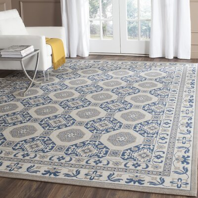 Nielsen Gray/Blue Area Rug Rug Size: Rectangle 67 x 9