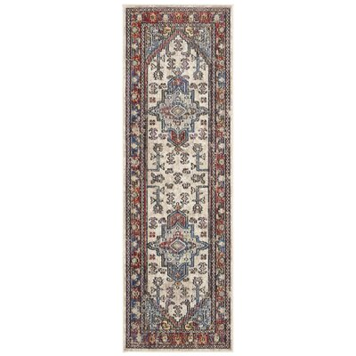 Jura Light Gray/Rose Area Rug Rug Size: Runner 22 x 7
