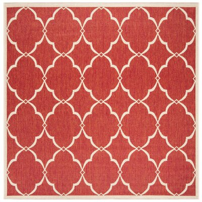 Huth Red/Cream Area Rug Rug Size: Square 67