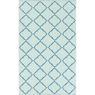 Eastbrook Teal/Mint Indoor/Outdoor Area Rug Rug Size: 2 x 3