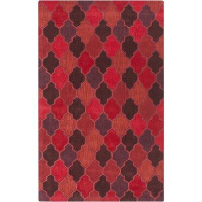 Gormley Burgundy Geometric Area Rug Rug Size: Rectangle 9 x 13