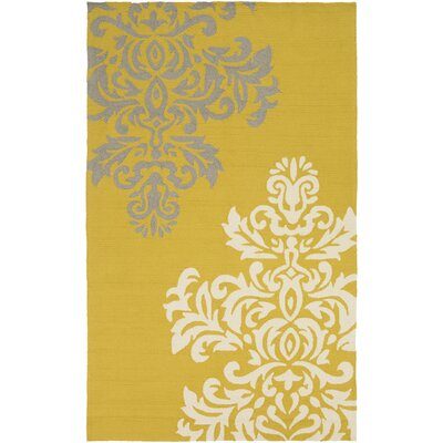 Schmitt Gold Indoor/Outdoor Area Rug Rug Size: Rectangle 2 x 3