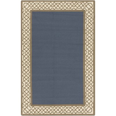 Canadice Hand-Hooked Sea Foam/Charcoal Indoor/Outdoor Area Rug Rug Size: 8' x 10'6
