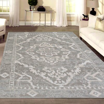 Norwood Gray Area Rug Rug Size: Rectangle 710 x 102
