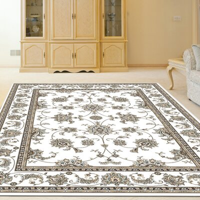 Ackermanville Bone Area Rug Rug Size: Runner 22 x 77