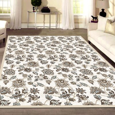 Ackermanville Bone Area Rug Rug Size: Rectangle 53 x 73