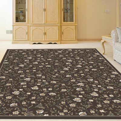 Ackermanville Brown Area Rug Rug Size: Round 53