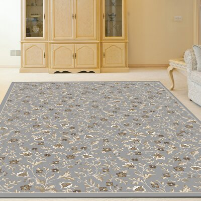 Ackermanville Gray Area Rug Rug Size: Rectangle 710 x 106