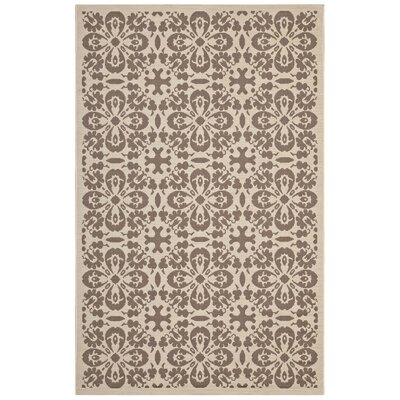 Herzberg Beige/Brown Indoor/Outdoor Area Rug Rug Size: Rectangle 8 x 10
