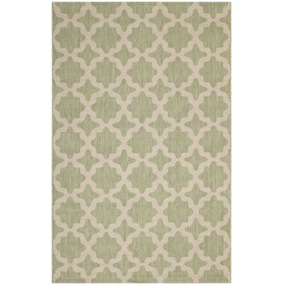 Hervey Bay Moroccan Trellis Beige/Light Green Indoor/Outdoor Area Rug Rug Size: Rectangle 5 x 8