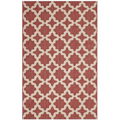 Hervey Bay Moroccan Red/Beige Indoor/Outdoor Area Rug Rug Size: Rectangle 5 x 8