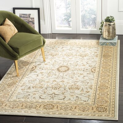 Lavelle Grey/Ivory Area Rug Rug Size: Rectangle 53 x 76