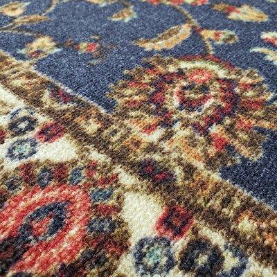 Kinnear Floral Black Area Rug Rug Size: Rectangle 410 x 610