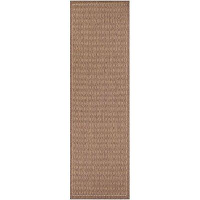 Westlund Saddle Stitch Cocoa Indoor/Outdoor Area Rug Rug Size: Runner 23 x 119