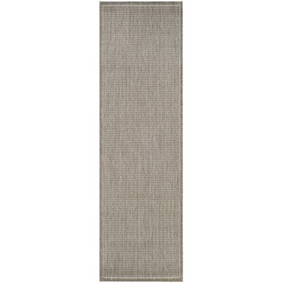 Westlund Champagne/Taupe Indoor/Outdoor Area Rug Rug Size: Runner 23 x 119