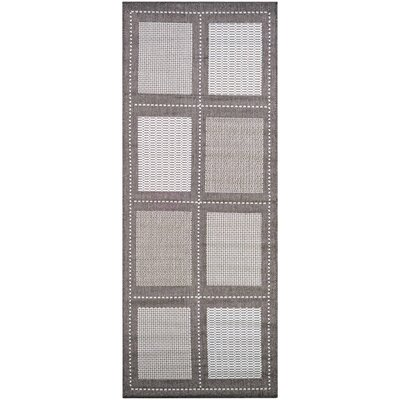Westlund Gray Indoor/Outdoor Area Rug Rug Size: Runner 23 x 119