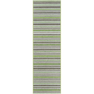 Watson Green/Brown Indoor/Outdoor Area Rug Rug Size: Runner 23 x 119