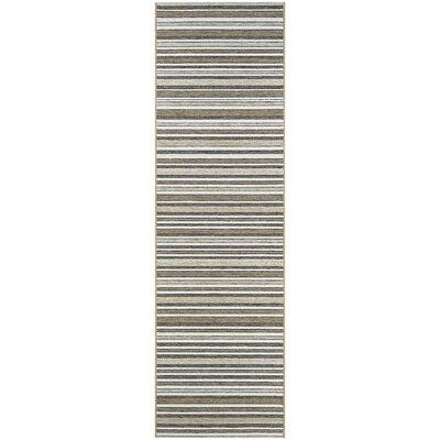 Holdren Light Brown/Ivory Area Rug Rug Size: Runner 23 x 119