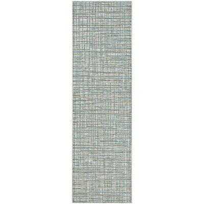 Carone Ivory/Hunter Indoor/Outdoor Area Rug Rug Size: Runner 23 x 119