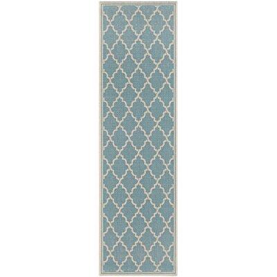 Cardwell Ocean Port Light Turquoise Indoor/Outdoor Area Rug Rug Size: Runner 23 x 119