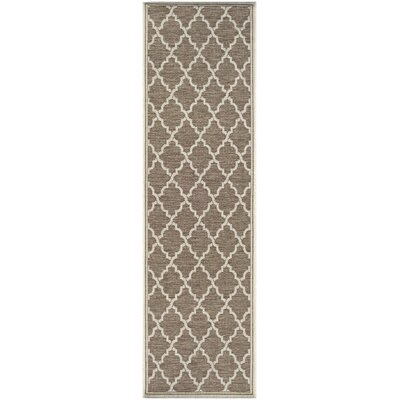 Cardwell Brown Indoor/Outdoor Area Rug Rug Size: Runner 23 x 119