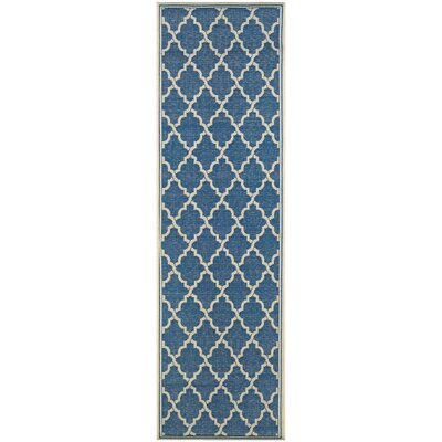 Cardwell Blue Indoor/Outdoor Area Rug Rug Size: Runner 23 x 119