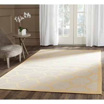 Pohl Tile Beige/Yellow Area Rug Rug Size: Rectangle 4' x 5'7