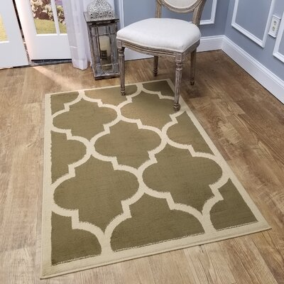 Kinner Moroccan Trellis Green Area Rug Rug Size: Rectangle 33 x 5