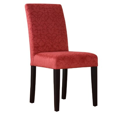 Markland Parsons Chair Upholstery: Tomato Red