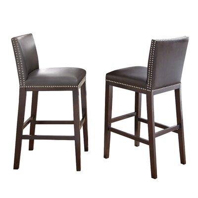 Tiffany 30 inch Bar Stool (Set of 2) Bar Stool Upholstery: Grey