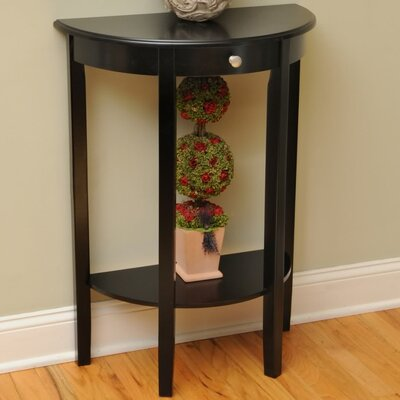 Melville Half Moon Console Table Finish: Black