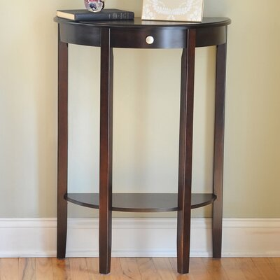 Melville Half Moon Console Table Finish: Espresso