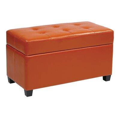 Noma Storage Ottoman Upholstery: Orange