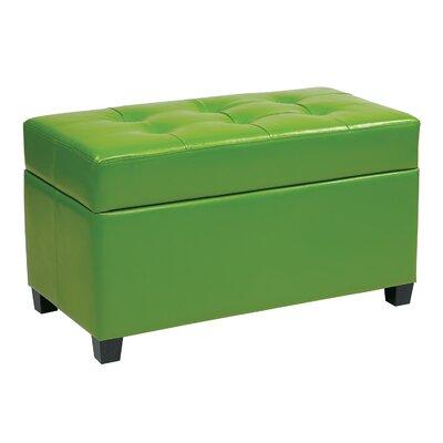 Noma Storage Ottoman Upholstery: Green