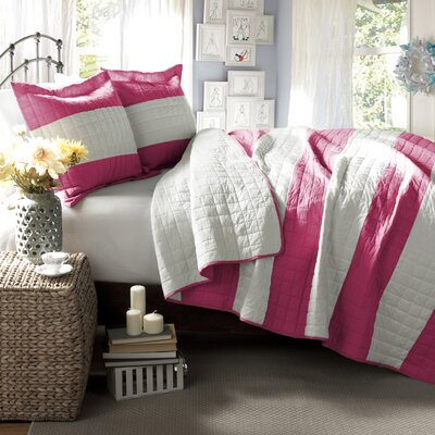 Shepard Quilt Set Size: Full / Queen, Color: Hot Pink