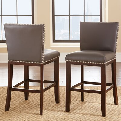 Hartland 24 Bar Stool (Set of 2) Upholstery: Gray