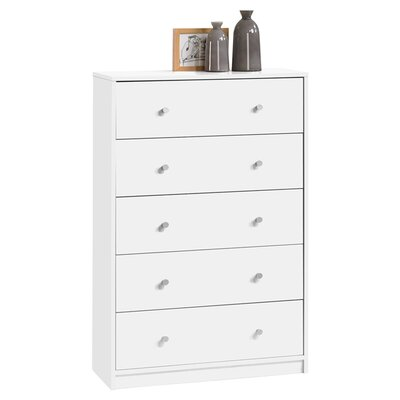 Coles 5 Drawer Chest Color: White