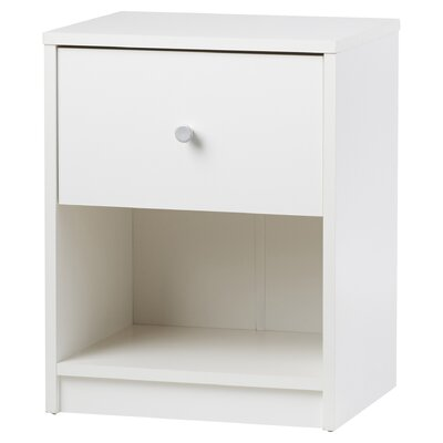 Coles 1 Drawer Nightstand Finish: White
