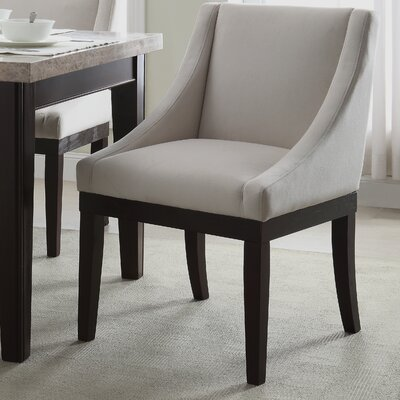 Herkimer Wingback Chair Upholstery: Oyster