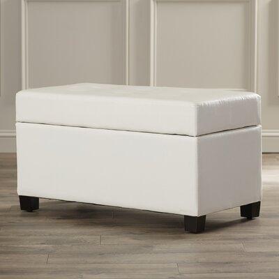 Noma Storage Ottoman Upholstery: White