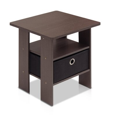 Kenton Petite End Table Finish: Dark Brown / Black