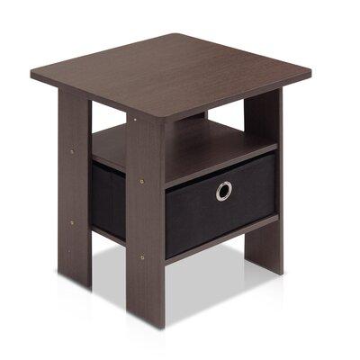 Kenton Petite End Table Color: Dark Brown / Black