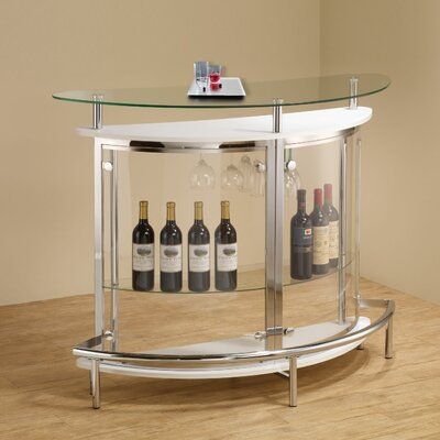 Fairborn Bar with Wine Storage Finish: White
