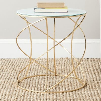 Winsor End Table Finish: Gold / White