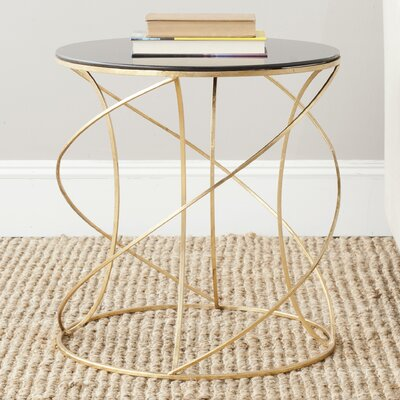 Winsor End Table Finish: Gold / Black