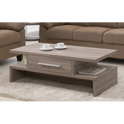 Wylie Rectangular 1 Drawer Coffee Table Finish: Light Oak