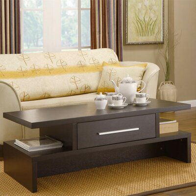 Wylie Rectangular 1 Drawer Coffee Table Finish: Coffee Bean